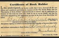Ration book one, back