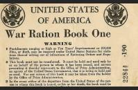 Ration book one, front