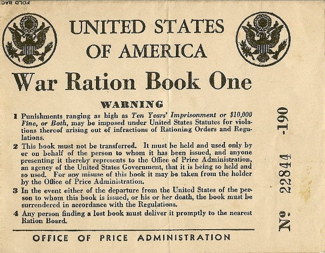 image relating to Ration Book Ww2 Printable referred to as rationing Archives The Countrywide WWII Museum Blog site