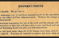 Ration book three, back