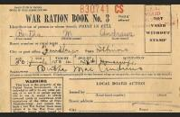 Ration book three, front