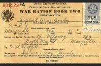 Ration book two, front