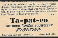 Ta-Pat-Co Sleeping Bags
