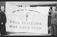 Four Freedoms war bond show, June 1943