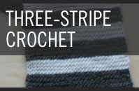 Pattern 1 - Three-Stripe - Crochet