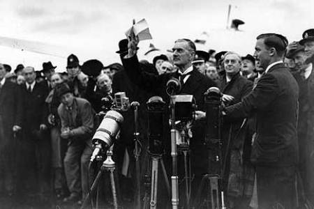 chamberlain appeasement speech This essay analyses the responsibility of neville chamberlain and his highly controversial appeasement theory which hypothetically prevented the outbreak of the second world war the policy.