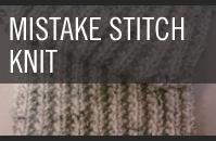 Pattern 6 - Mistake Stitch Ribbed Scarf