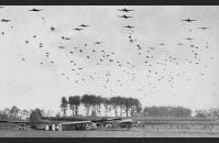 C-3) U.S. gliders and paratroopers. US Army Signal Corps