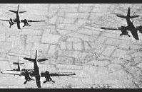 C-1) Pre-invasion bombing of Pointe-du-Hoc. US Air Force
