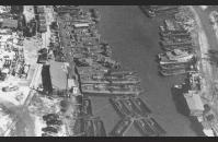 B-1) LCVP's, PT boats, and LCSs on Bayou St. John awaiting shipment. Graham Haddock