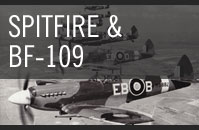 British Spitfire and German BF-109