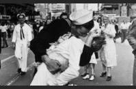 The famous Life magazine photograph taken by Alfred Eisenstaedt on August 14, 1945