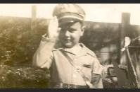 National WWII Museum volunteer Ronnie Abboud in his family's war-time Victory Garden.