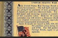 War Bond Stamp Book, back