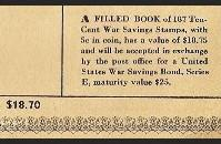 War Bond Stamp Book, last page